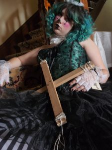 Jewels Marley Creepy Puppet Photoshoot