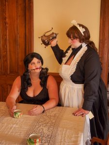Allie Wolter and Gabby Howell - Creepy Maid Doll Cosplay